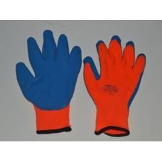 Перчатки зимние, акриловые с покрытием из натурального латекса